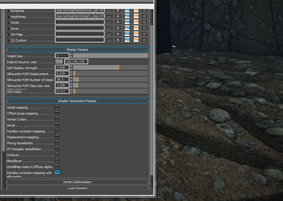 CRYENGINE | Parallax Occlusion Mapping problem