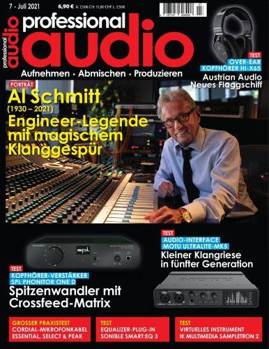 Cover: Professional Audio Magazin No 07 Juli 2021