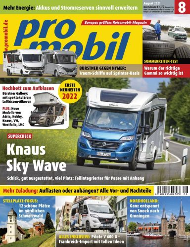 Cover: Promobil Magazin No 08 August 2021