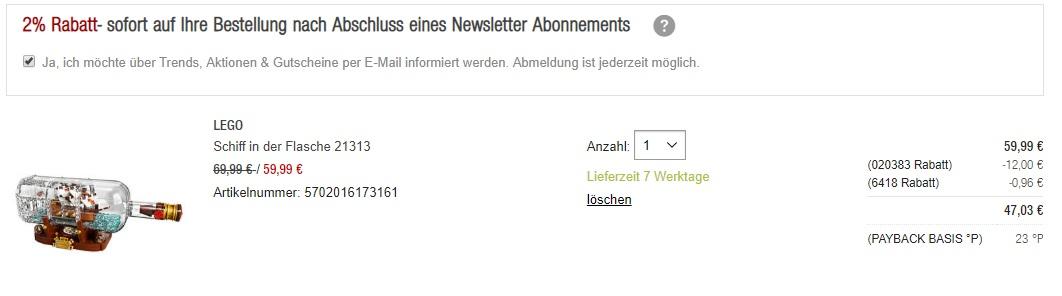 Galeria Kaufhof 20 Rabatt Für Payback Kunden Zb Bugatti Chiron