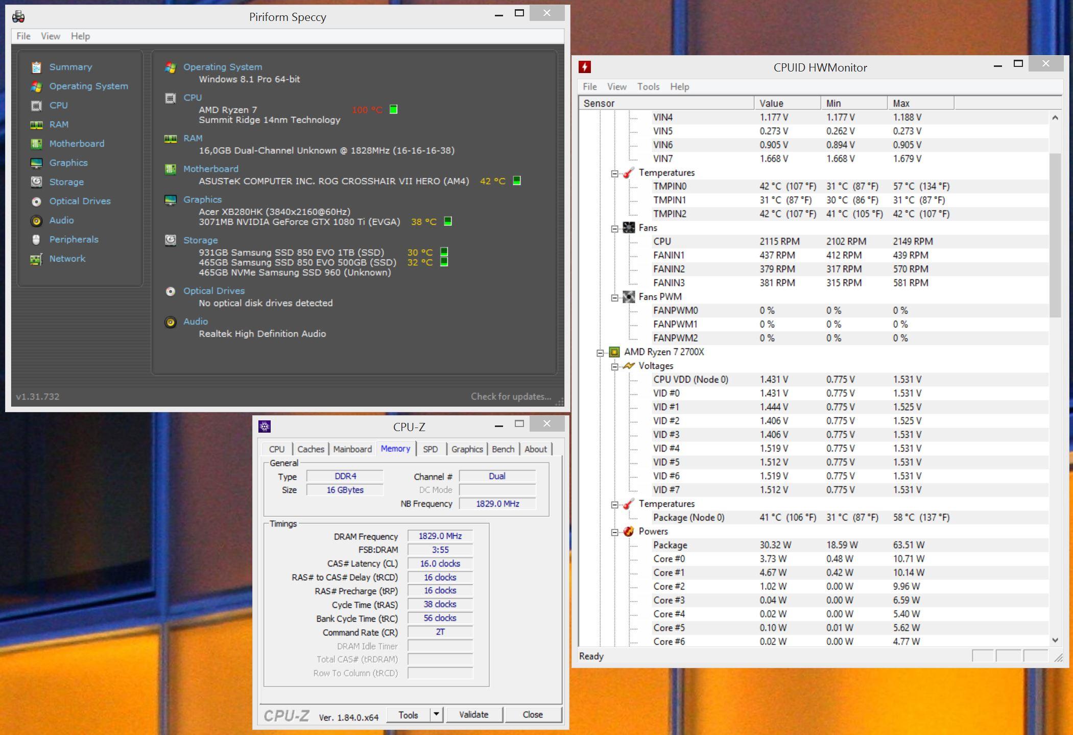 RAM Speeds with 2700x : Amd