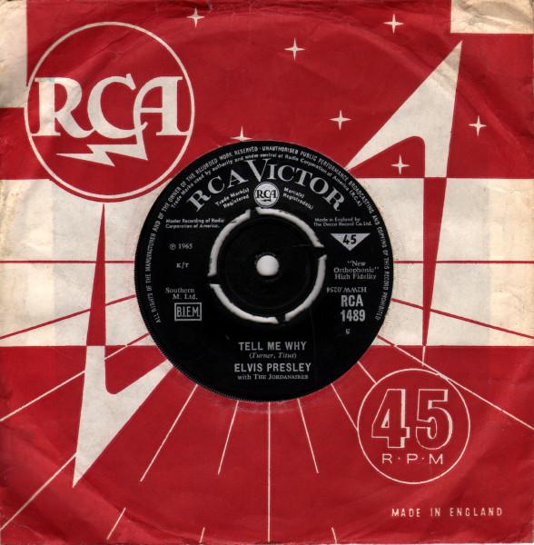 Diskografie Großbritannien (U.K.) 1956 - 1963 Rca1489mcjog