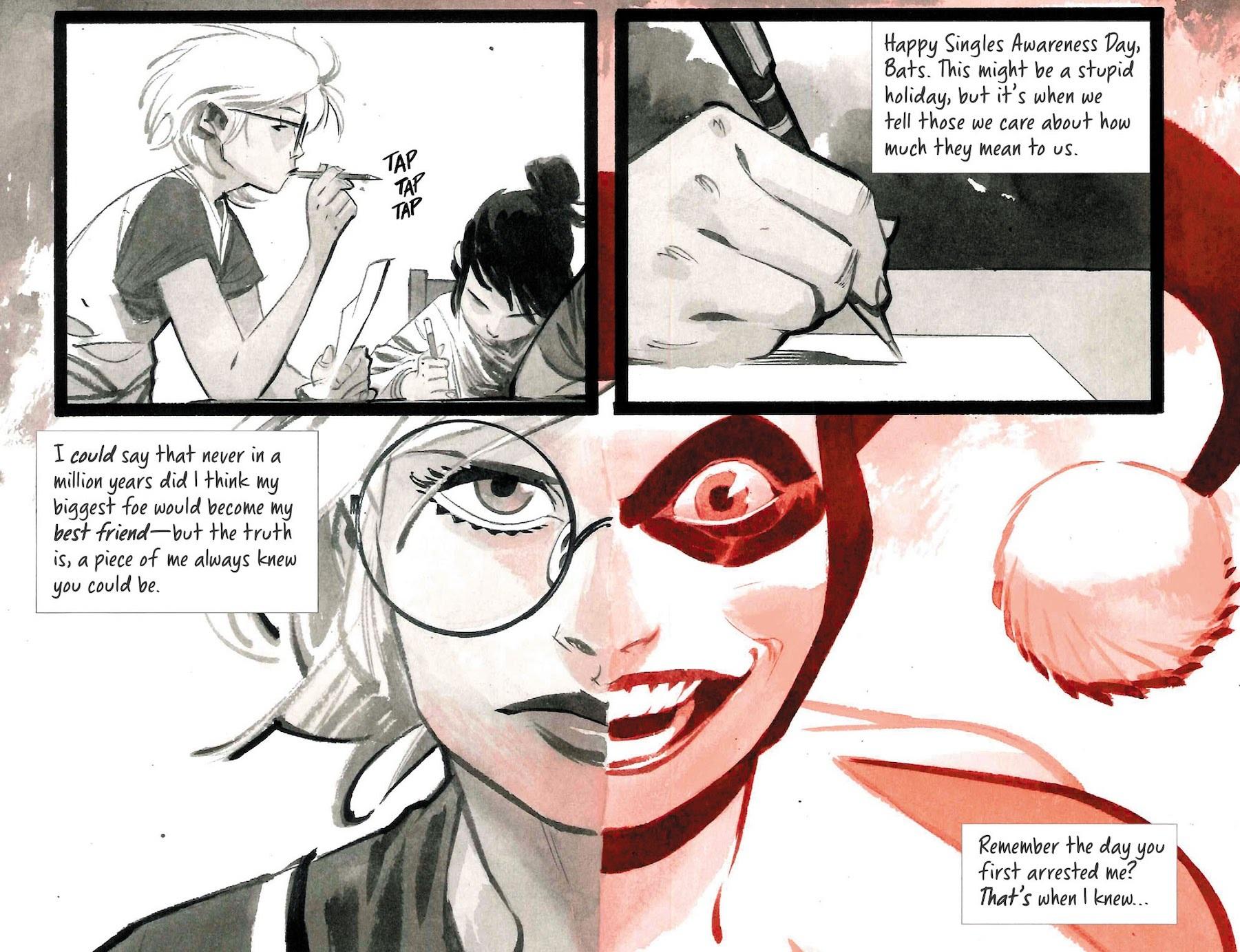 Harley Quinn Black White Red 6 Scans Daily