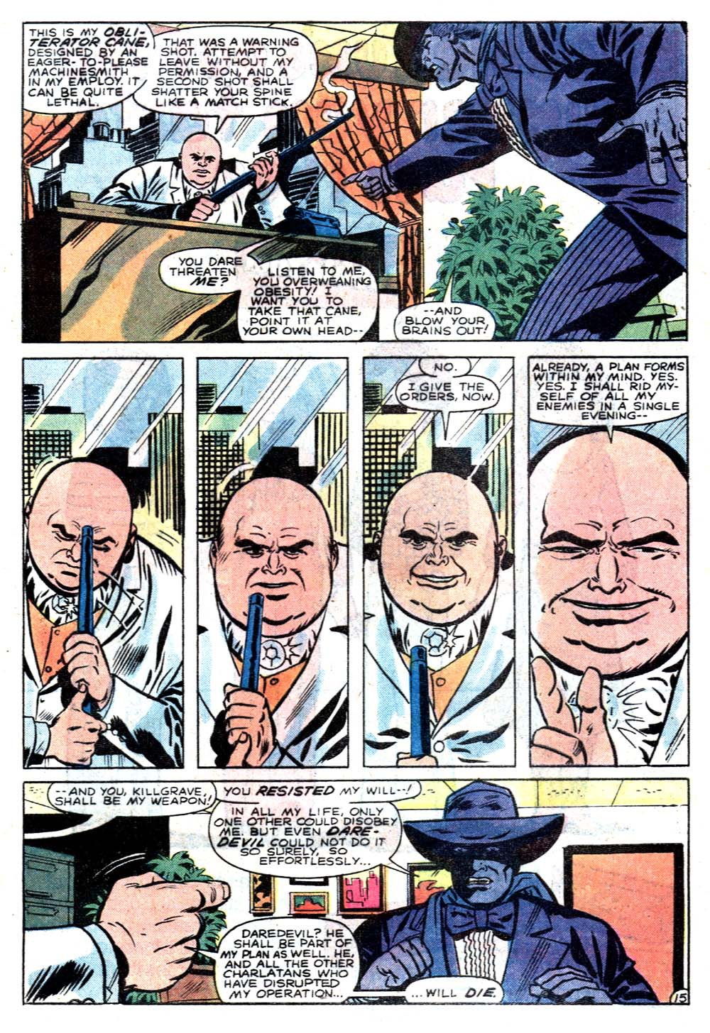 Kingpin manages to lure Spider-Man, Daredevil, Moon Knight, Power Man and Iron First to a charity event hosted by J. Jonah Jameson.