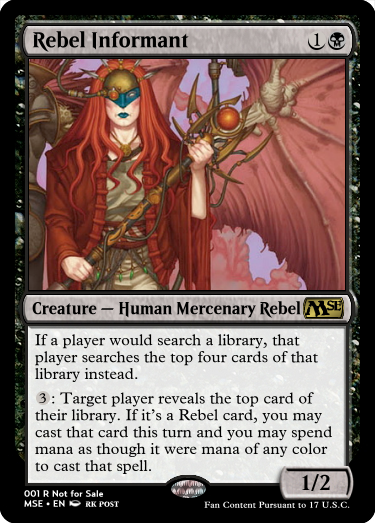 Rebel Informant with art by rk post