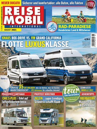 Cover: Reisemobil International Magazin No 08 August 2021