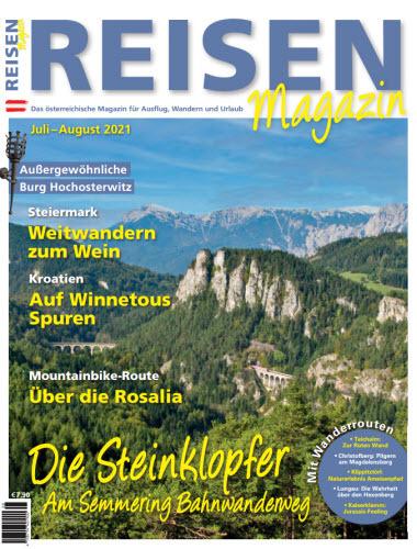 Cover: Reisen Magazin für Ausflug, Wandern und Urlaub No 07-08 2021