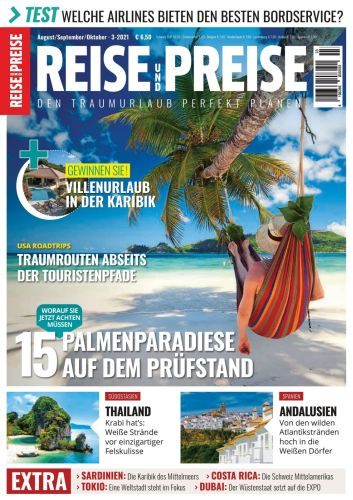Cover: Reise und Preise Magazin No 03 August-Oktober 2021