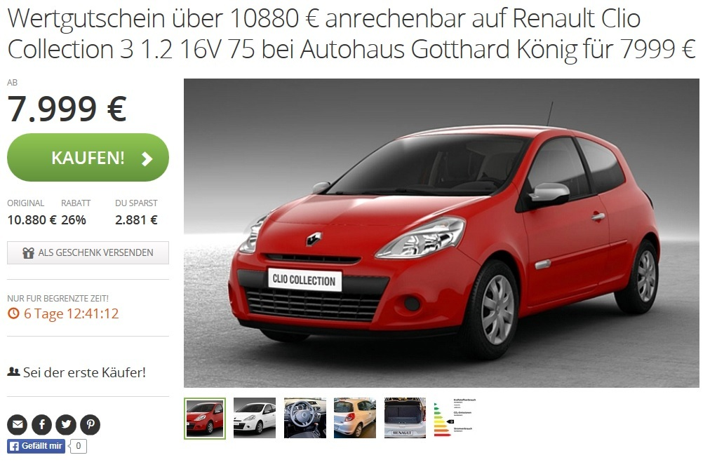 renault clio collection 3 1 2 16v 75 in wei oder rot. Black Bedroom Furniture Sets. Home Design Ideas