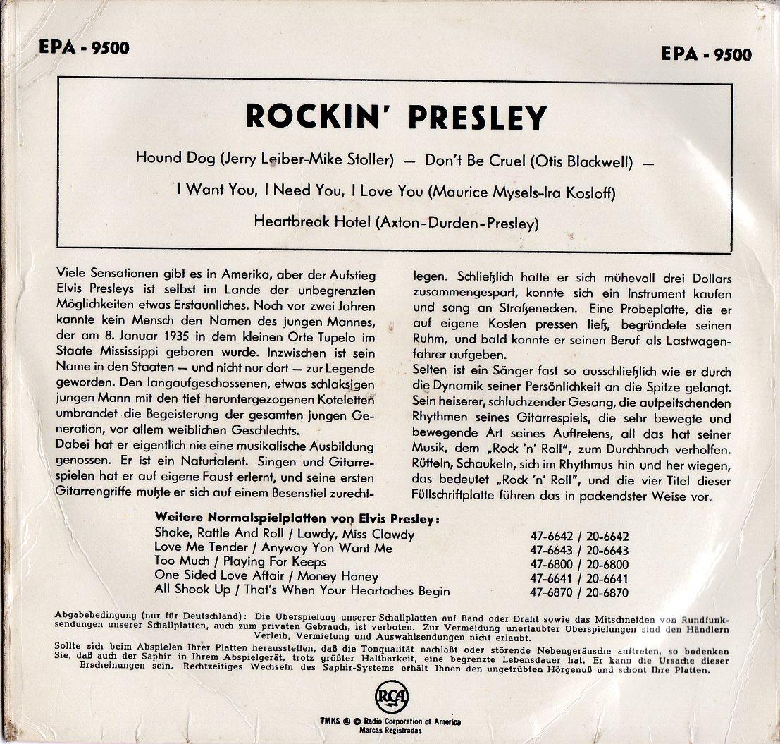 Presley - Rockin' Presley Rockinpresleyvarianteock6u