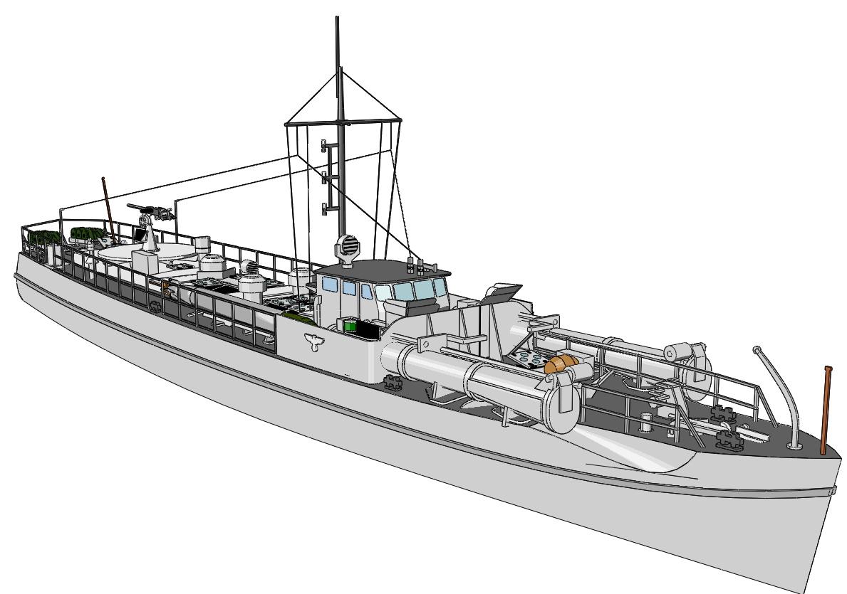 Schnellboote Série S7-S13 de la Reichsmarine 1:250 S-boot-08iojbk