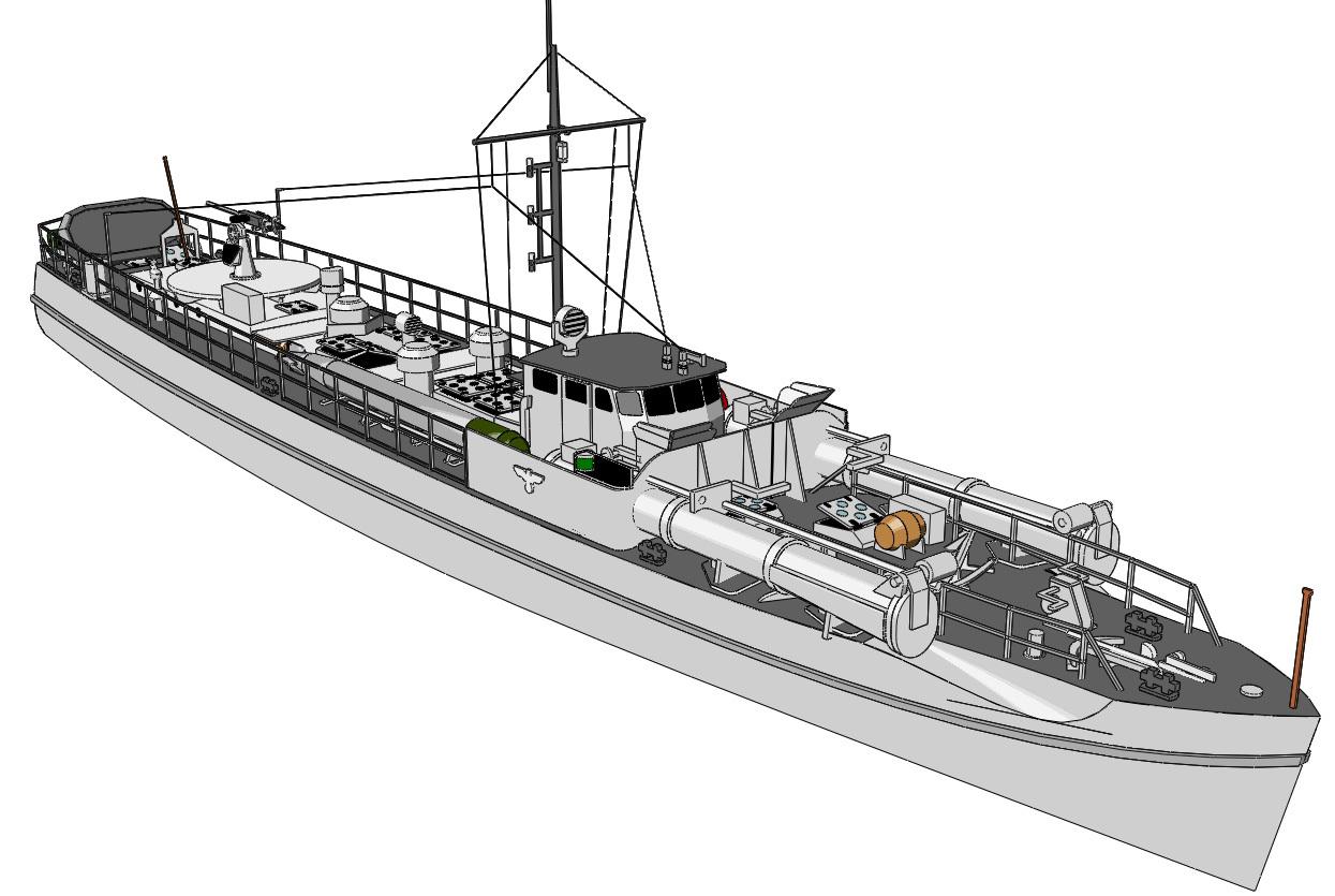 Schnellboote Série S7-S13 de la Reichsmarine 1:250 S-boot-10aslk6s
