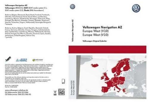 : VW SD-Karte für Navigation Rns 315 AZ West v.10