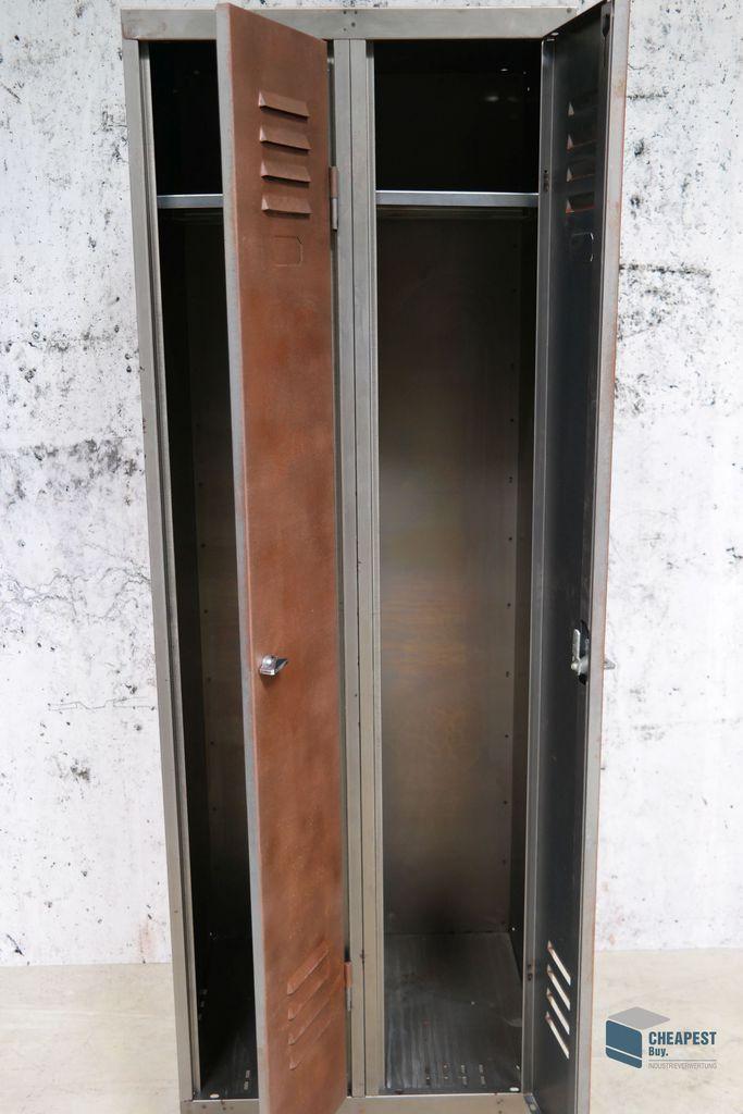 metall spind loft m bel schrank steel locker industriedesign shabby rust look ebay. Black Bedroom Furniture Sets. Home Design Ideas