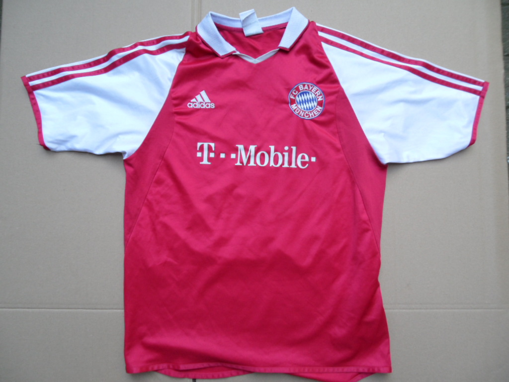 adidas fc bayern m nchen fu balltrikot t mobile werbung makaay 176 ebay. Black Bedroom Furniture Sets. Home Design Ideas