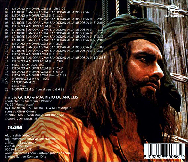 Sandokan Soundtrack Cd 1 Sehr Rar 2xaudio Cd Mp3
