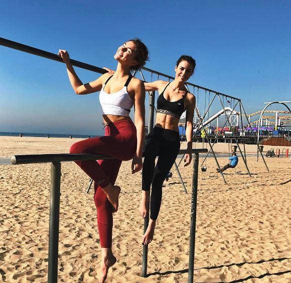 Gntm Heißes Workout Von Stefanie Giesinger Und Lena Meyer Landrut