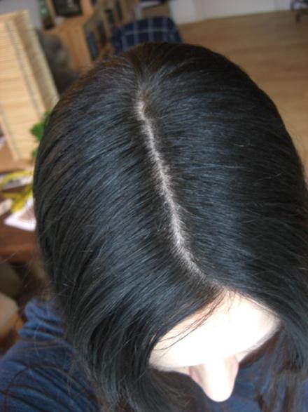 Graue haare vorpigmentieren