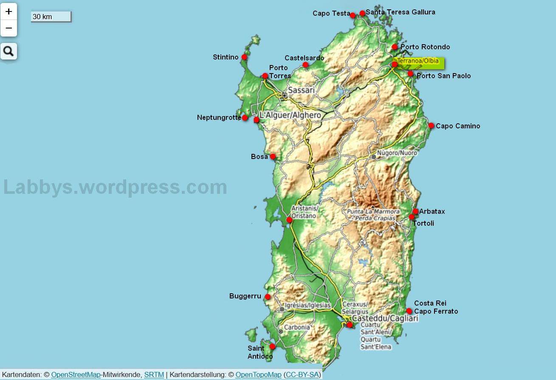 Risikogebiet Sardinien