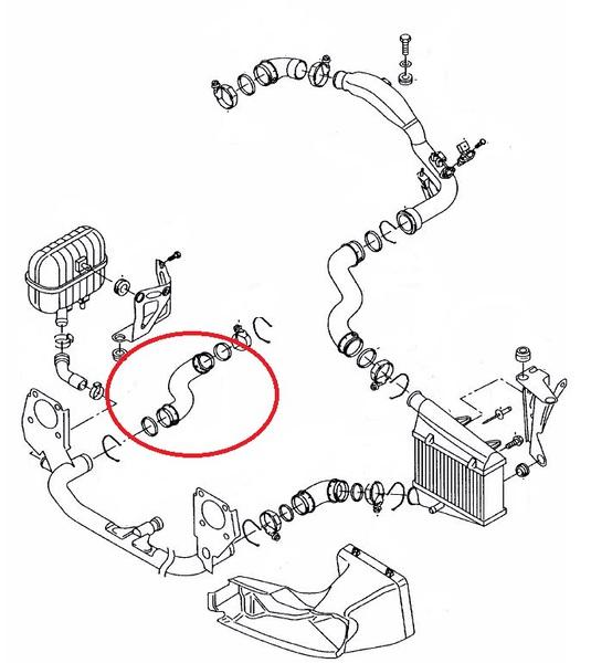ladeluftschlauch luftschlauch schlauch vw passat 3b skoda. Black Bedroom Furniture Sets. Home Design Ideas