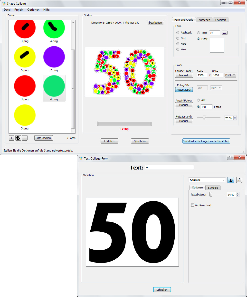 collage als zahl welches programm. Black Bedroom Furniture Sets. Home Design Ideas