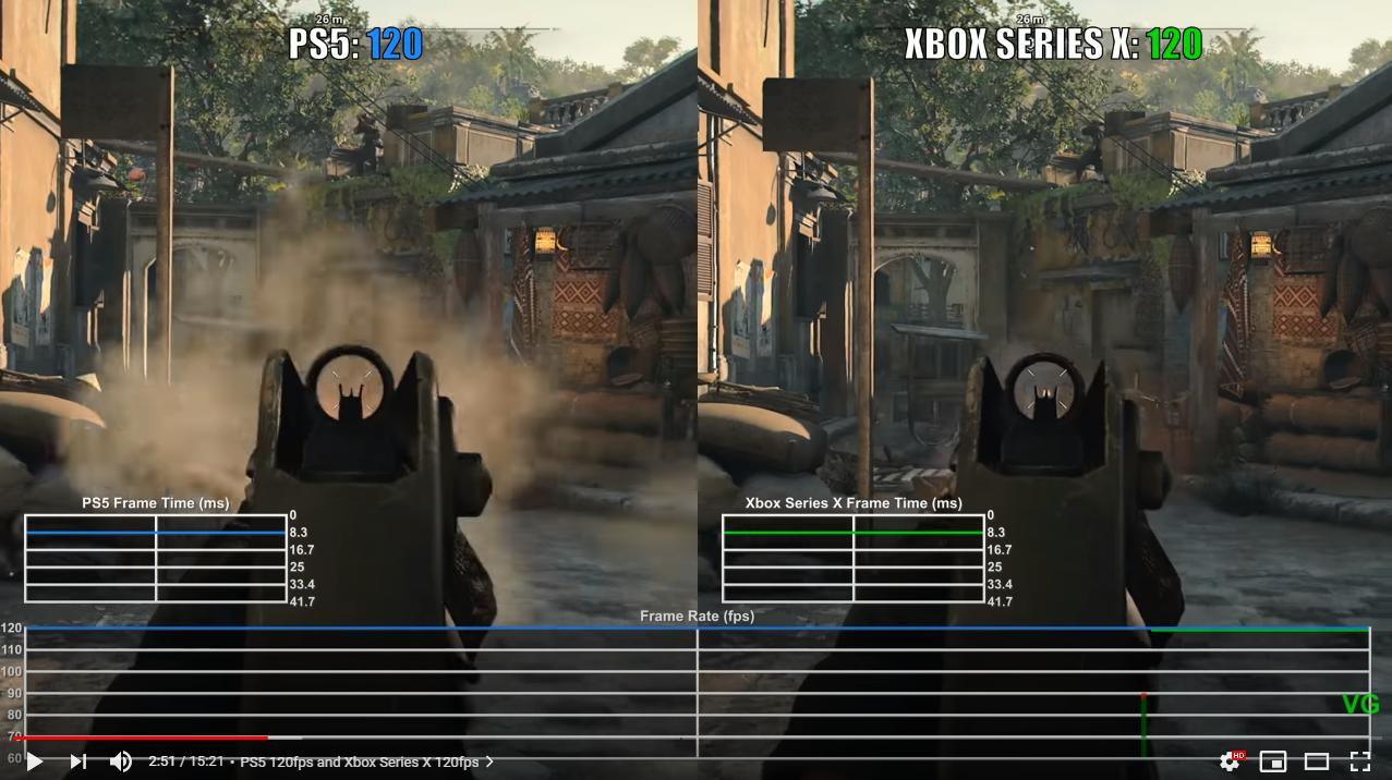 [情報] COD:BOCW PS5 & xb 實機比對!