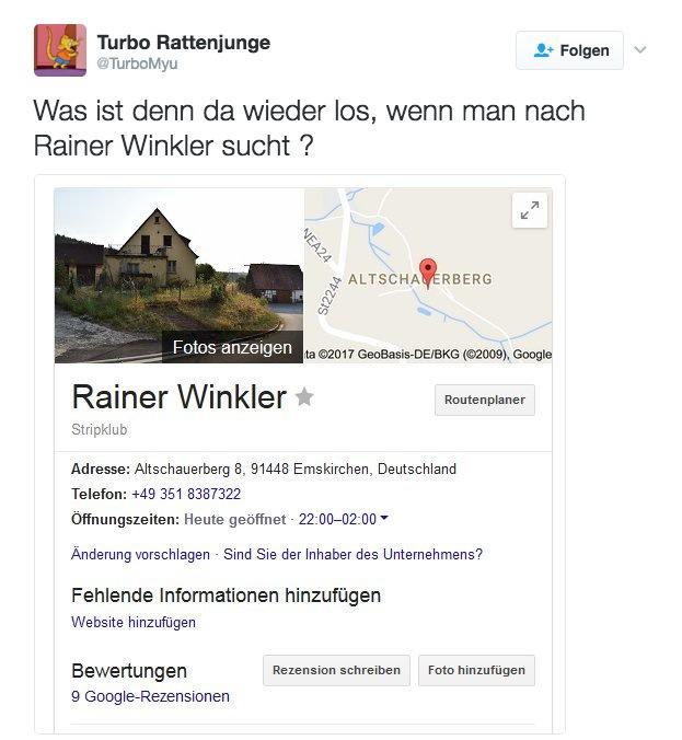 Telefonnummer emskirchen altschauerberg 8 Rainer Winkler