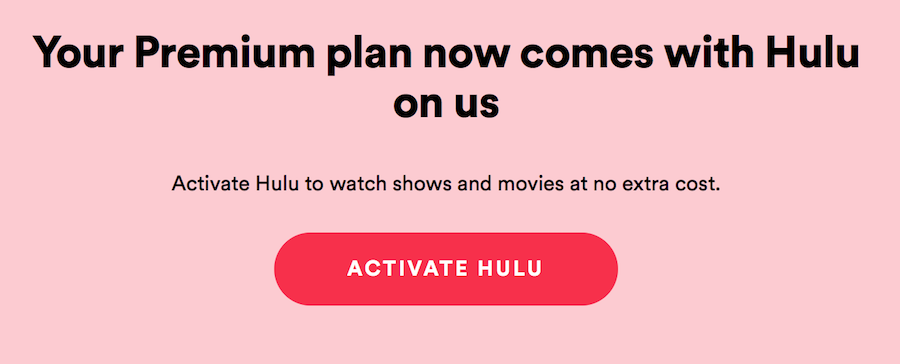 how to activate hulu with spotify premium family