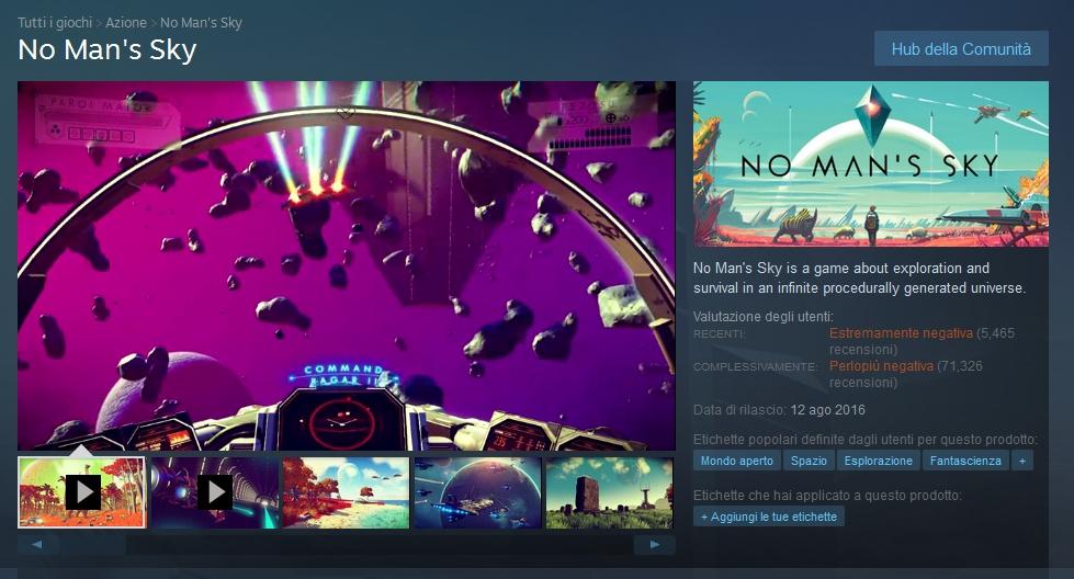 No Man's Sky - Continua il crollo su Steam