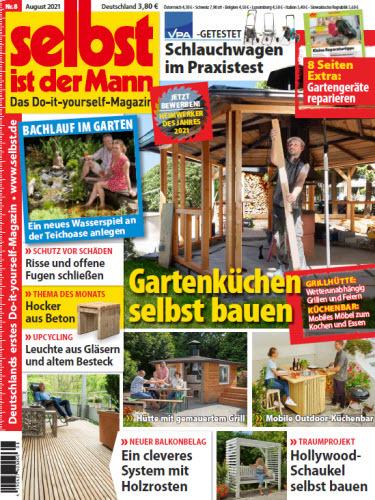 Cover: Selbst ist der Mann Heimwerkermagazin No 08 2021