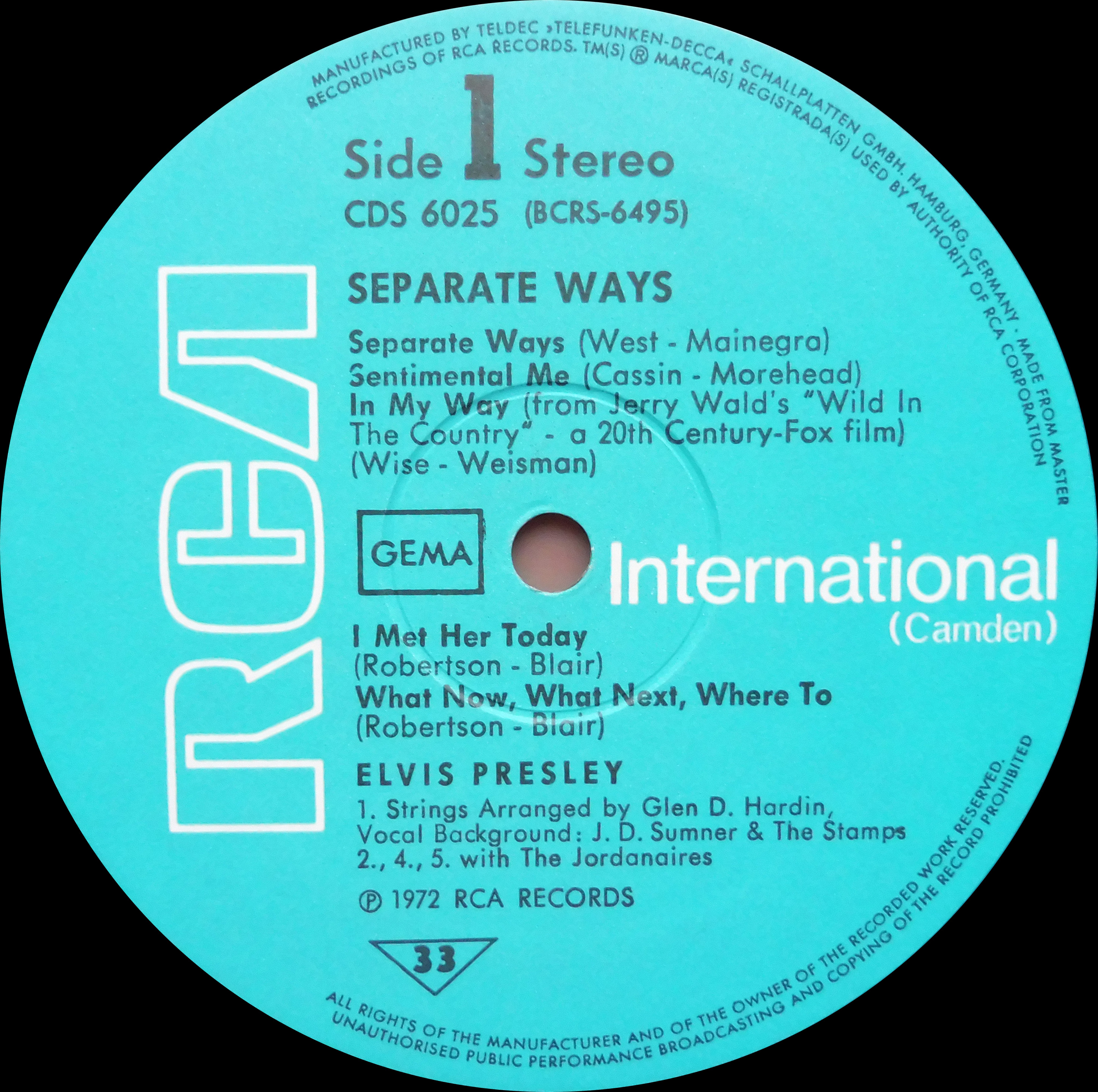 SEPARATE WAYS Separatewayscds73side1vdkz