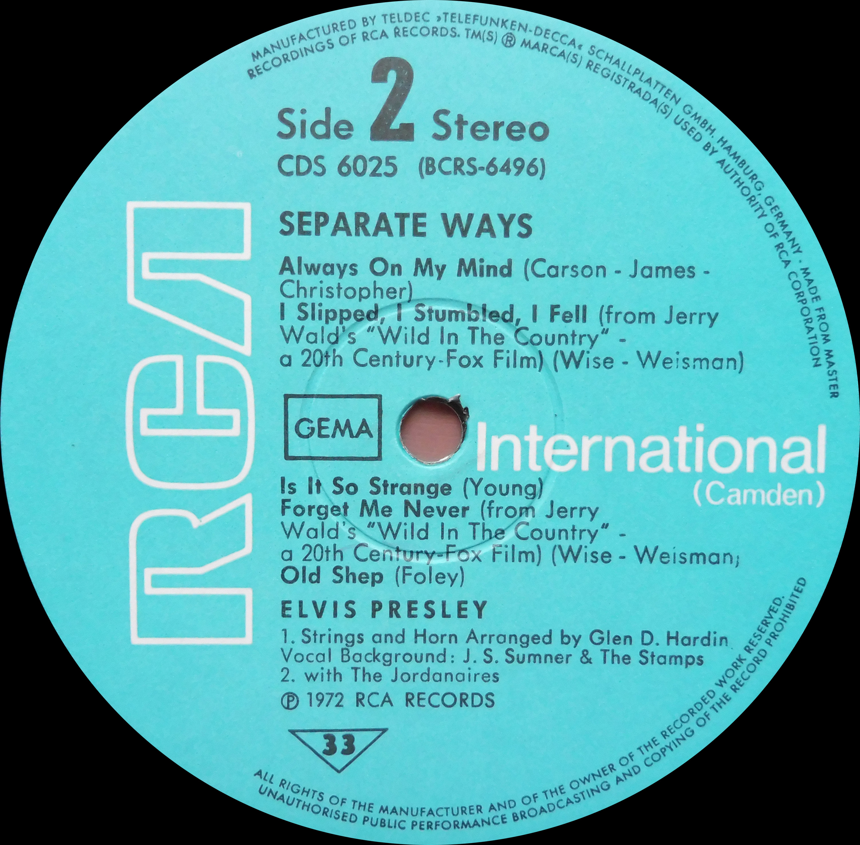 SEPARATE WAYS Separatewayscds73side40euz