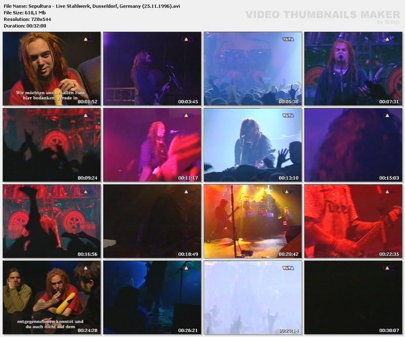 Sepultura - Live Stahlwerk, Dusseldorf, Germany - 25.11.1996