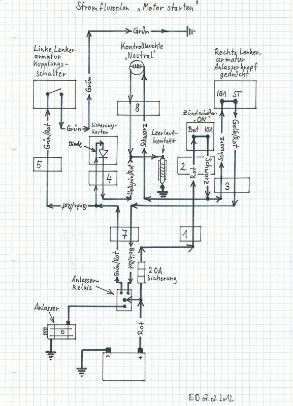anlasser relais schaltplan