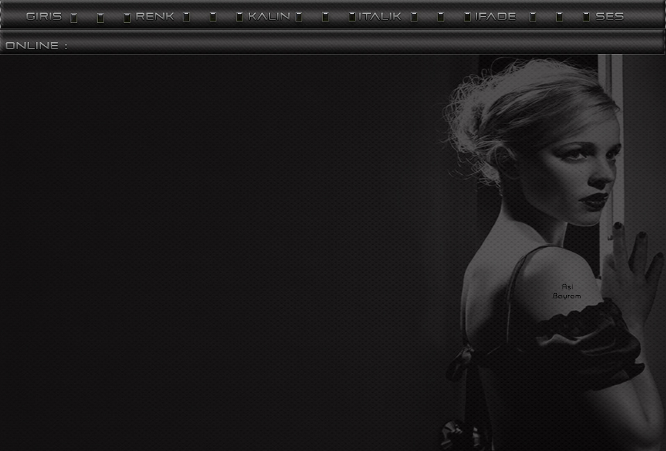 Siyah Beyaz Bayan Sade Tema