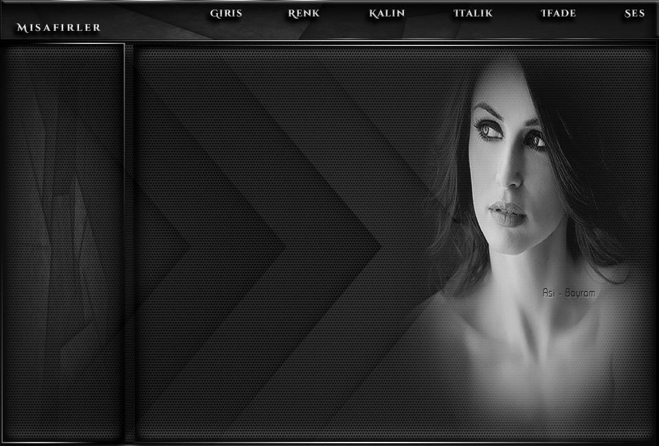 Siyah Beyaz Bayan Tema