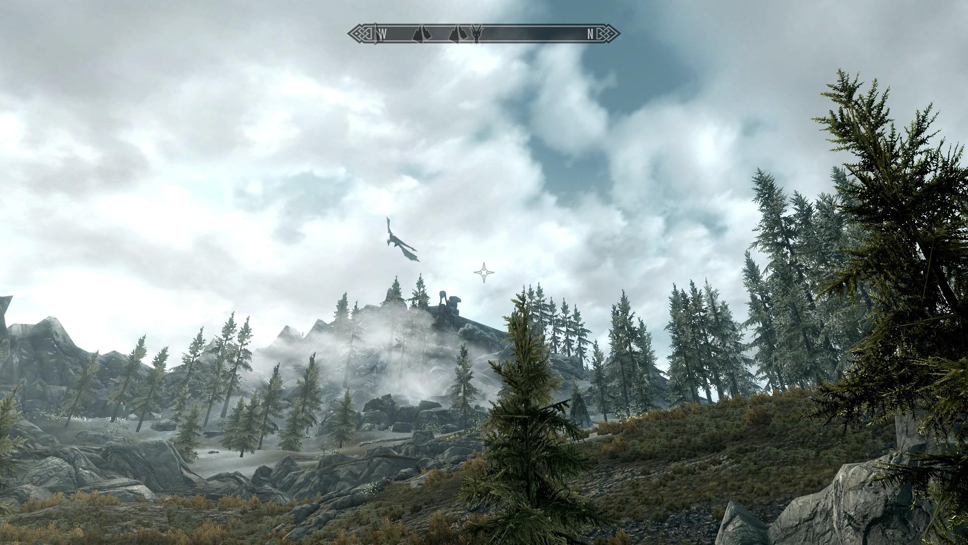 Der Drache kreist um den Berg