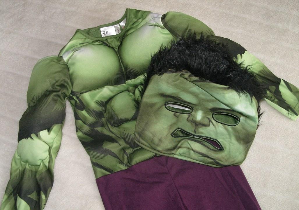 h m kost m marvel hulk overall einteiler maske muskeln. Black Bedroom Furniture Sets. Home Design Ideas