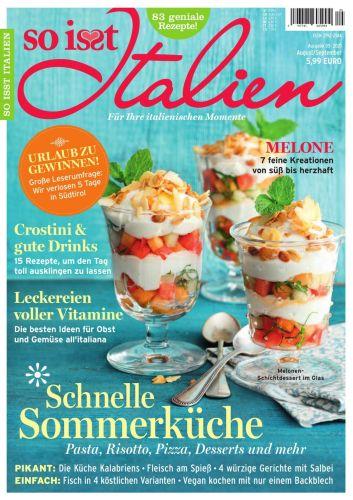 Cover: So isst Italien Magazin No 05 August-September 2021