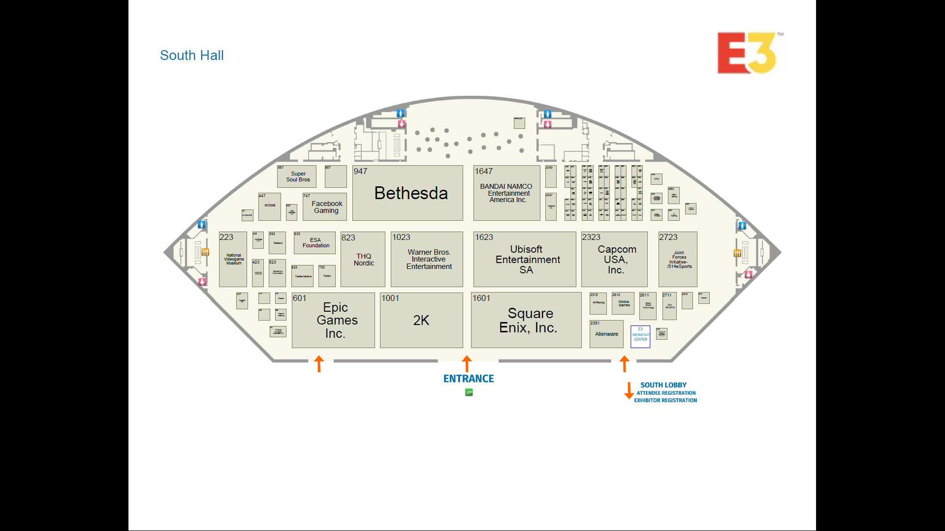 E3 2019 Floor Plans are now available