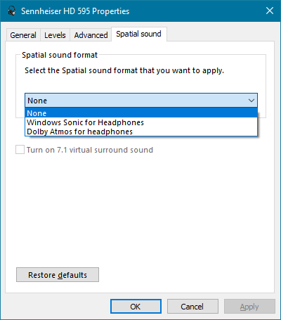 Windows Sonic and Dolby Atmos for headphones | guru3D Forums