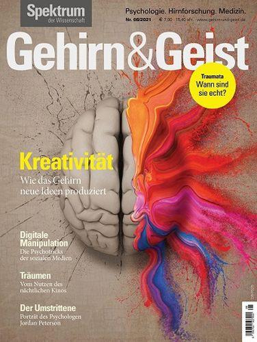 Cover: Spektrum der Wissenschaft Magazin Gehirn und Geist No 08 2021