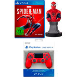 Spider-Man + Wireless DualShock Controller rot + Cable Guy