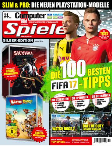 : Computer Bild Spiele Magazin November No 11 2016