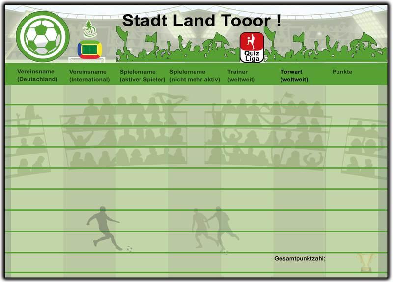 Stadt Land Fluß Fußball Fussball für Kinder Erwachsene ...