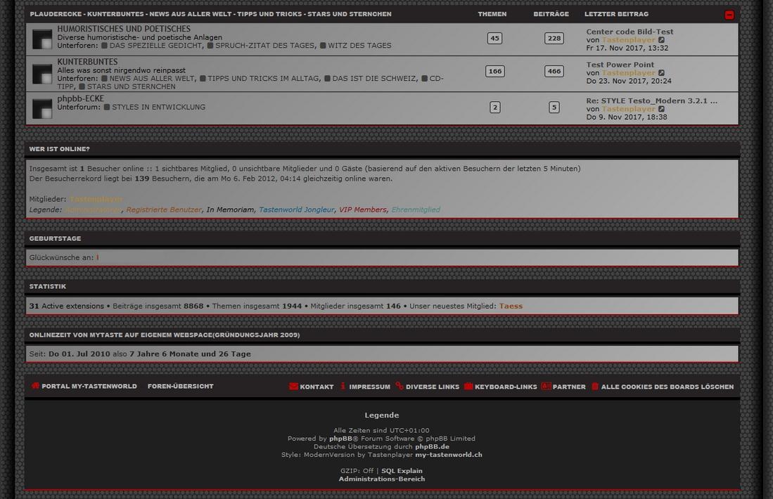 phpBB • Adding A Header & Border Around The Stat Blocks