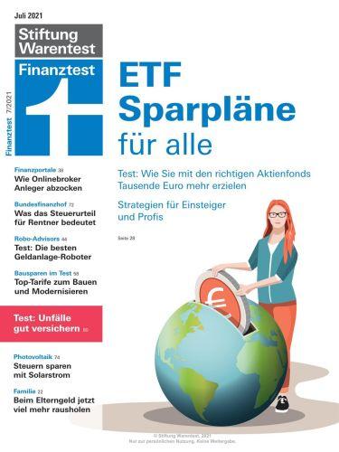 Cover: Stiftung Warentest Finanztest Magazin No 07 Juli 2021