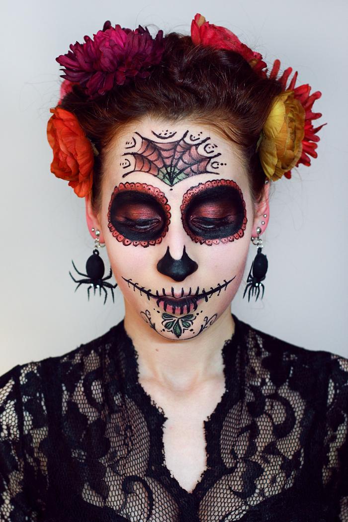 my halloween la catrina sugar skull make up rauschgiftengel. Black Bedroom Furniture Sets. Home Design Ideas