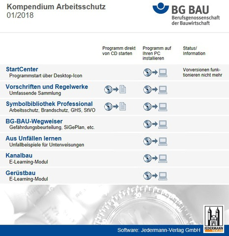 : Kompendium Arbeitsschutz der BG Bau 2018