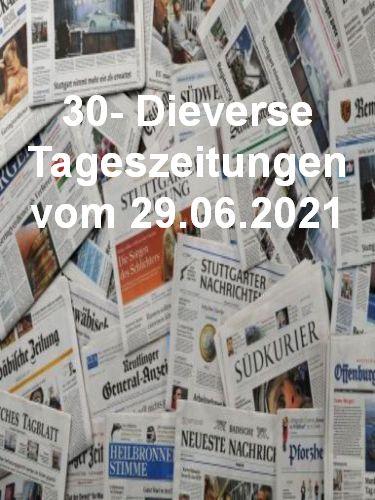 Cover: 30- Diverse Tageszeitungen vom 29  Juni 2021
